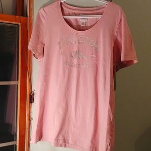 Roots pink classic beaver logo Tee
